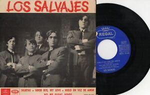"""LOS SALVAJES - Siluetas + 3, EP 7"""" SPAIN 1965 PROMOCIONAL"""