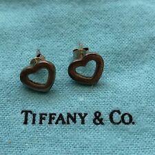 Tiffany & Co Sterling Silver Heart Post Earrings