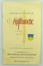 Heft Kreuzkirche Seifhennersdorf 1949 Musikwoche - Dresdner Philharmonie e867