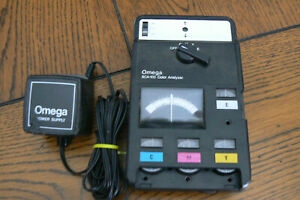 Vintage Omega SCA-100 Color Analyzer with Adapter  FREE US SHIP