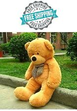 "Teddy Bear Giant 55"" Big Stuffed Animal Brown Plush Soft Toy 140CM Huge Cuddly"
