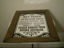 Wood Framed Pub Mirror Catchy Phrase Perfect for Bar Mancave Dining Room