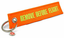 REMOVE BEFORE FLIGHT -beidseitig- neon orange
