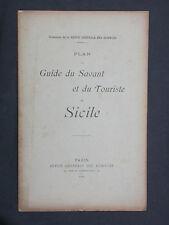 Plan du guide du savant et de touriste en Sicile Italie 1900 Revue des Sciences