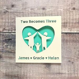 Personalised Adoption Card, Two Becomes Three New Baby Family Addition Fostering