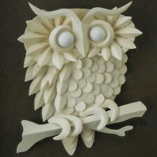 Jack Eisner Three-Dimensional Paper Sculpture of Owl — Signed, Shadowbox Framed