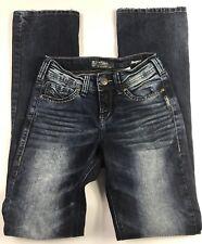 Silver SUKI Mid Slim Boot Super Stretch Dark Wash Jeans Women's Size 24
