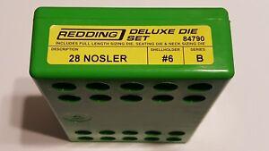 84790 REDDING 3-DIE FULL LENGTH / NECK 28 NOSLER DELUXE DIE SET - BRAND NEW
