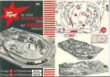 Catalogue Tips HO 1960 Faller modellen Märklin train catalogo katalog RARE
