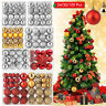24-100X Christmas Balls Ornaments Baubles Shatterproof Xmas Tree Hanging Ball US