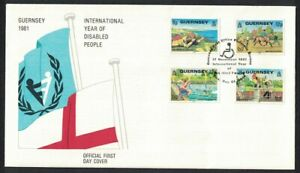 Guernsey Intl Year for Disabled Persons FDC 1981 SG#245-248