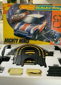 Micro-Scalextric Slot Car Set Mighty Minis,  BMW Mini Cooper 1:64 Scale Working