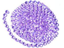12Feet Diamond Prisms Glass Crystal Octagon Beads Wedding Chandelier Part Purple