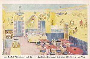 NEW YORK CITY - Castleholm Hotel - Viking Dining Room - Swedish Smõrgásbord