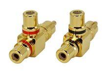 Ein Paar Premium Cinch-Adapter(Y-Adapter) | Cinch Stecker auf 2 x Cinch-Kupplung