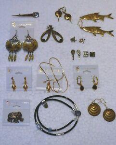 Modeschmuck zum Minipreis ! Ohrringe, Anstecknadeln/Pins,Broschen u.mehr ! Set 5