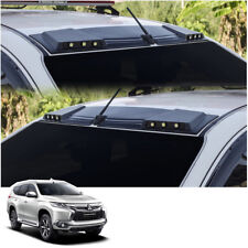 Front Leds Roof Gap Spoiler Black Fits Mitsubishi Pajero Montero Sport 2016 - 17