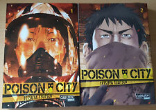 POISON CITY 1+2 Comic Manga complet & Allemand Tsutsui Carlsen