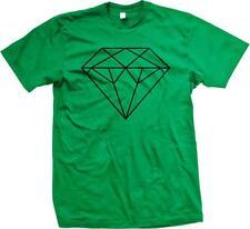Black Diamond Outline Swag Hip Hop Rap Music Mens T-shirt