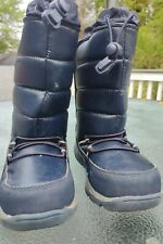 Lands End Snow Boots Navy Toddler Size 12