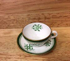 Vintage Fleur Verte Spode Miniature Tasse et soucoupe
