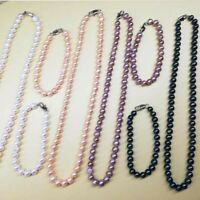 Wholesale white pink purple black FW pearl Necklaces Bracelets free earring