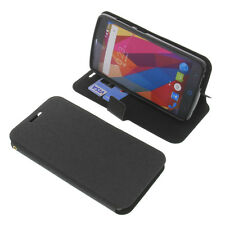 étui pour ZTE BLADE L5 PLUS style Livre Etui Housse téléphone mobile Noir