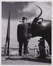 PAUL BUNYAN & BABE at BEMIDJI Minnesota ICONIC Classic 1950s photograph