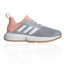 adidas Womens Essence Indoor Court Shoes Purple Sports Handball Breathable