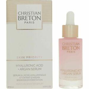 Christian Breton Paris Hyaluronic Acid & Argan Oil Serum Anti Ageing 30ml New