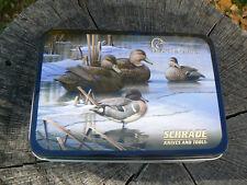 Nuovo Schrade Tin Box scatola porta coltello confezione regalo Ducks Unlimited