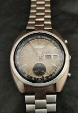Seiko Vintage 6139-6012 Chronograph Automatic Watch For Mens Dial Beige Restore