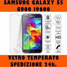 PELLICOLA  VETRO TEMPERATO SAMSUNG GALAXY S5 G900 i9600 Proteggi Schermo Lcd