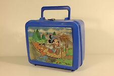Mickey Mouse - Swinging Bridge - Vintage plastic Lunchbox