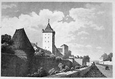 NÜRNBERG NÜRNBERGER BURG BURGGRABEN 1838 CHÂTEAU DE NUREMBERG CASTLE