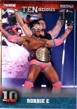 TNA Robbie E #34 2012 TENacious SILVER Parallel Card SN 24 of 30