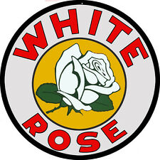 White Rose Motor Oil Gas Station Sign