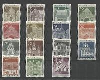 Bund 489 -  503 sauber postfrisch BRD Deutsche Bauwerke II 1966 Freimarken MNH