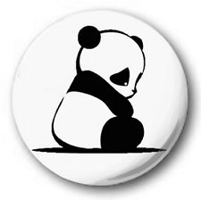 "SAD PANDA - 25mm 1"" Button Badge - Cute Novelty SITTING"
