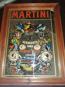 MARTINI MIRROR BREWERY VINTAGE PUB BAR ADVERTISING MAN CAVE.
