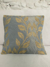 Luxury Cushion Cover, Blue/Grey, Gold, Silky, Double Layer Chenille, Sky Blue.