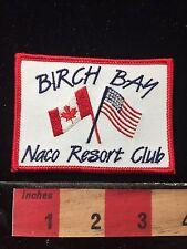 Birch Bam USA CANADA FLAGS RV Camper Patch NACO Resort Club 60C5