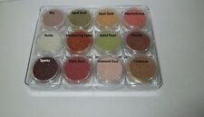 Boxed set of 12 Mineral Mica Eye Shadows - Vegan - 100% Pure minerals -