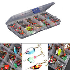 30pcs Assorted Spoon Metal Fishing Lures Spinner Baits Bass Tackle Sheet...UK
