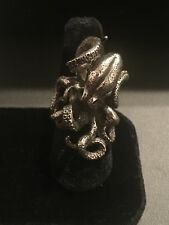 Incredible Vintage Sterling Silver Octopus Ring