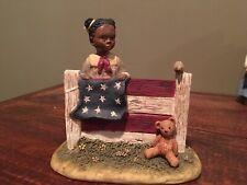 All Gods Children Figurine Martha Holcomb- Carrie American Flag