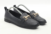 Topshop Womens EU Size 38 Black Leather Dolly Shoes