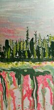 Abstract Roots Original Painting,Acrylic On Stretched Canvas  Signed