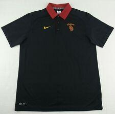 Authentic Nike NCAA USC Trojans Varsity Performace Polo Shirt Size Mens Large L