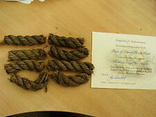 Rigging or Cannon Rope from 1758  HMS Invincible ShipWreck